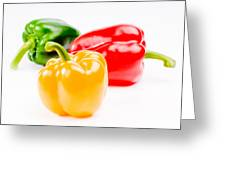 Colorful Sweet Peppers Greeting Card