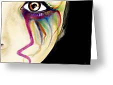 Colorful Tears Greeting Card