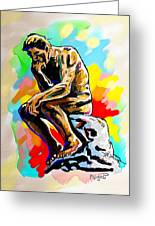 Colorful Thinker Greeting Card