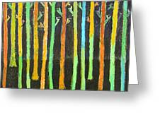 Colorful Trees Greeting Card