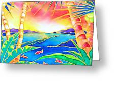 Colorful Tropics 12 Greeting Card