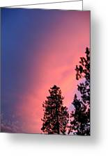 Colorful Twilight Time Greeting Card
