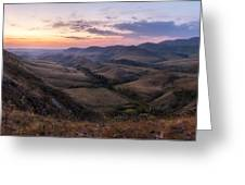 Colorful Valley Greeting Card