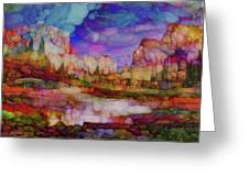 Colorful Vista Greeting Card