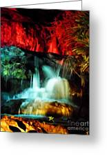 Colorful Waterfall Greeting Card