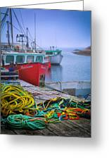 Colorful Wharf Greeting Card
