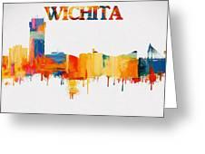 Colorful Wichita Skyline Silhouette Greeting Card
