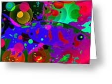 Colorful World Of A Fish Greeting Card