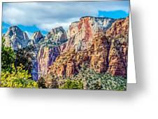 Colorful Zion Canyon National Park Utah Greeting Card