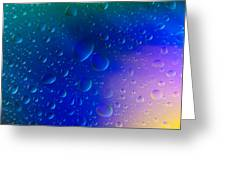Colorfull Water Drop Background Abstract Greeting Card