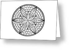 Coloring Book Mandala Greeting Card