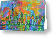 Coloring The Big Apple Greeting Card