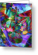 Colors And Geometries For A Violin  Greeting Card