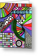 Colors Gone Wild Greeting Card