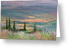 Colors In Tuscany Greeting Card
