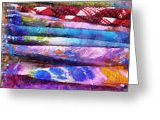 Colors Material Horizontal Pa 02 Greeting Card