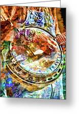 Colors Of A Banjo Busker Greeting Card