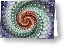 Colors Of A Spiral Greeting Card