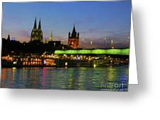 Colors Of Cologne Greeting Card