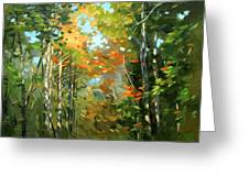 Colors Of Early Fall  Greeting Card