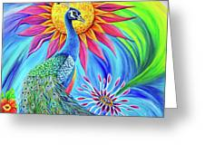 Colors Of His Splendor Greeting Card by Nancy Cupp