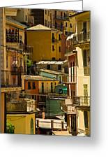 Colors Of Manarola Italy Greeting Card