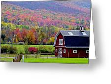 Colors Of New England Greeting Card by Rick  Monyahan