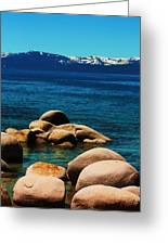 Colors Of Sand Harbor Greeting Card
