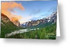 Colors Of Yosemite Greeting Card