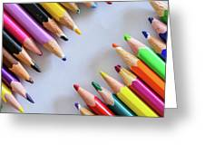 Colors. Old Pencils Greeting Card