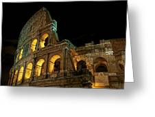 Colosseum At Night Greeting Card
