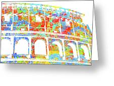 Colosseum - Colorsplash Greeting Card