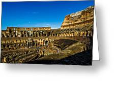 Colosseum In Rome Interior Greeting Card