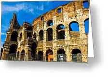 Colosseum In Rome Italy Greeting Card