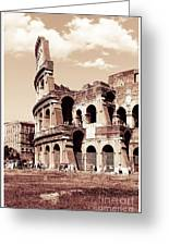 Colosseum Toned Sepia Greeting Card