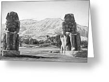 Colossi Of Memnon 2 Greeting Card