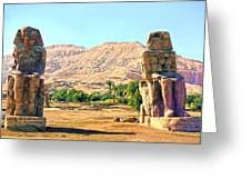 Colossi Of Memnon Greeting Card