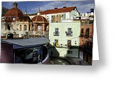 Colour Of The Streets Greeting Card