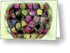 Coloured Glass Bowl Greeting Card