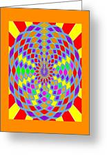 Coloured Ovals Greeting Card