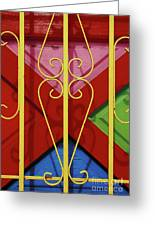 colourful abstract urban photography - The Red Cross Greeting Card