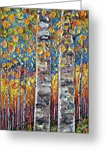 Colourful Autumn Aspen Trees By Lena Owens @olena Art Greeting Card