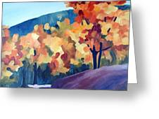 Colourful Autumn Greeting Card by Carola Ann-Margret Forsberg