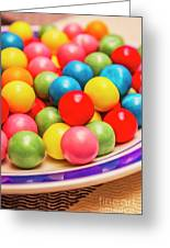 Colourful Bubblegum Candy Balls Greeting Card