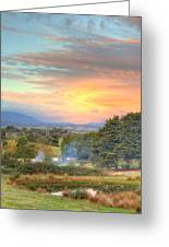 Colourful Clouds At Sunset Yarra Glen 09-05-2015 Greeting Card