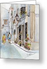 Colourful Corner In Spain Greeting Card