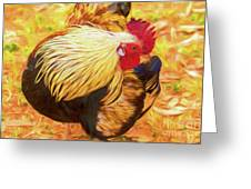 Colourful Hen Greeting Card