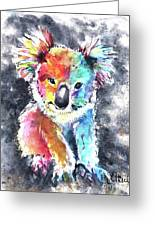 Colourful Koala Greeting Card