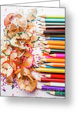 Colourful Leftovers Greeting Card