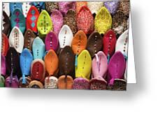Colourful Morroccan Slipper Greeting Card